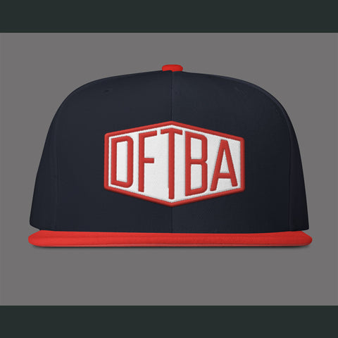 DFTBA Red/Navy Snapback Hat