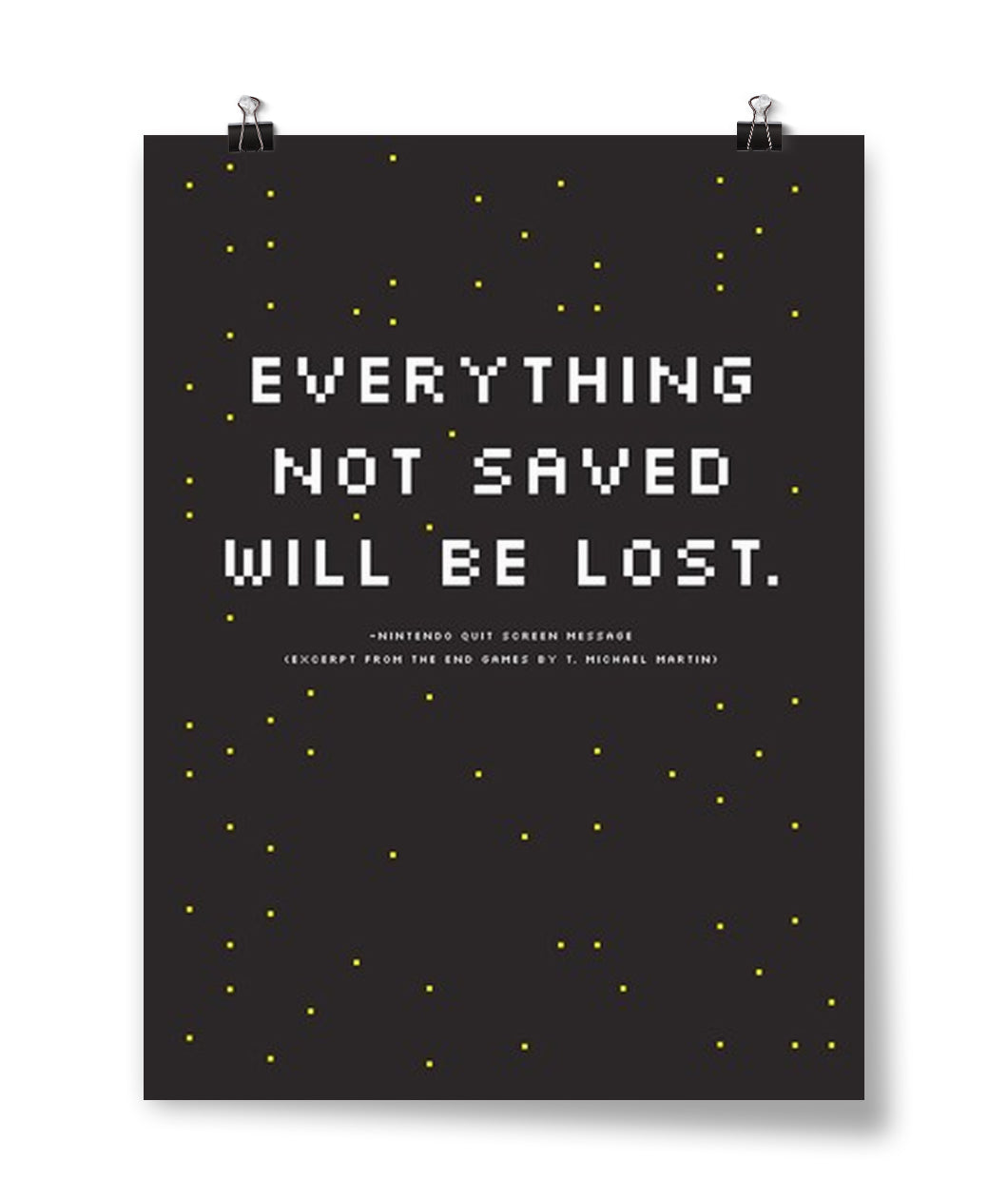 Everything Not Saved Poster