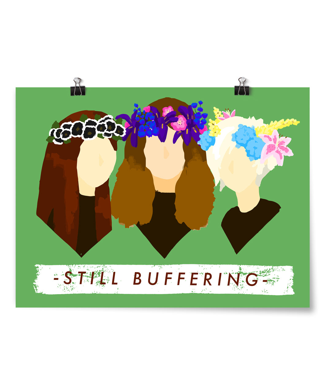 Floral Still Buffering Poster
