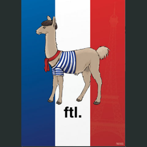 French The Llama Poster