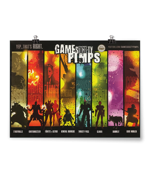 Game Society Pimps Poster