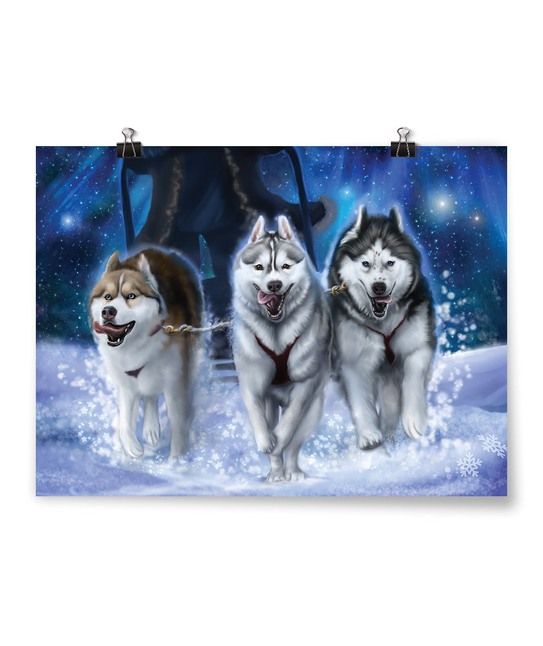 Gone To The Snow Dogs Poster