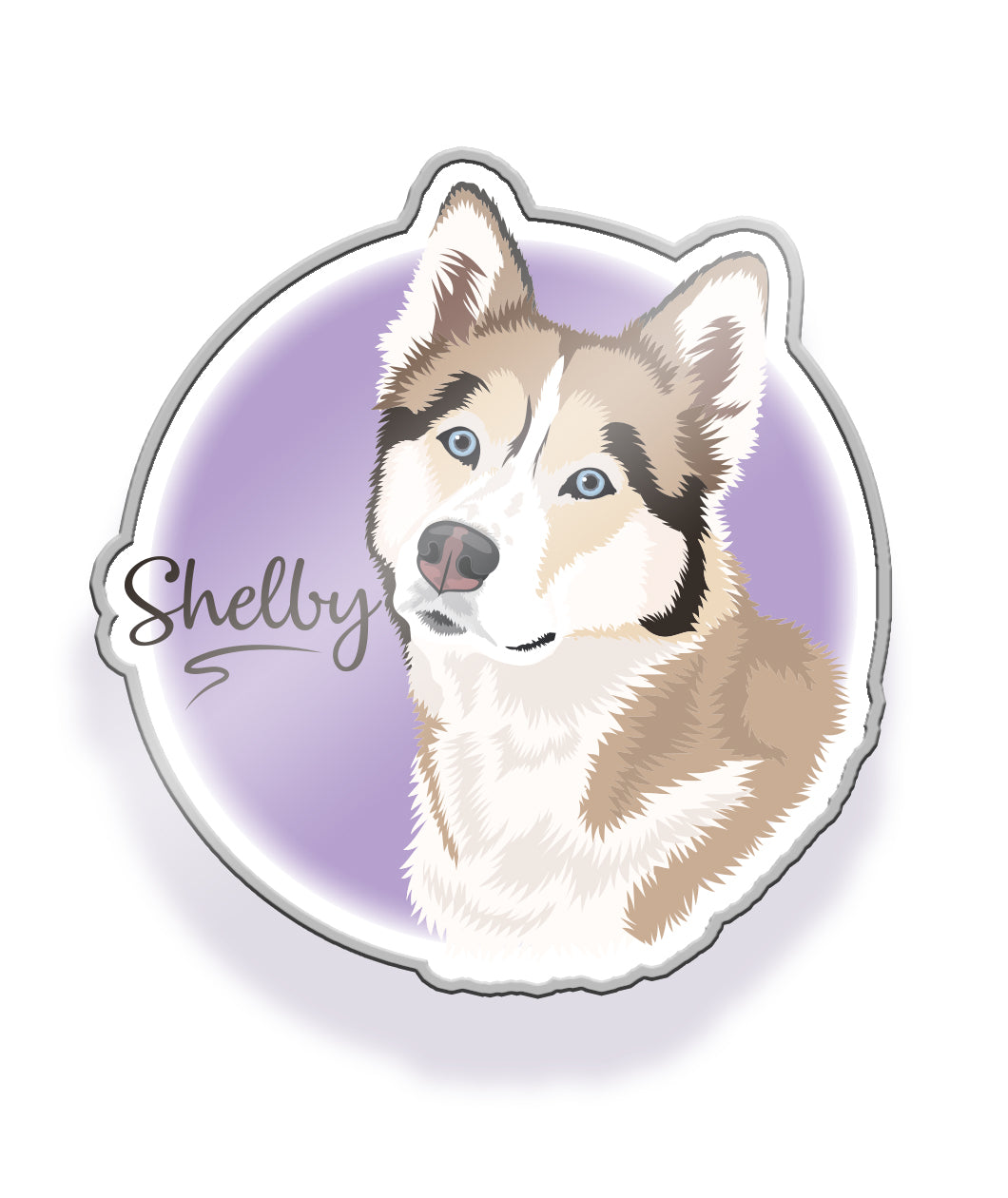 Shelby Enamel Pin