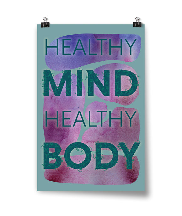 Healthy Mind Healthy Body Poster