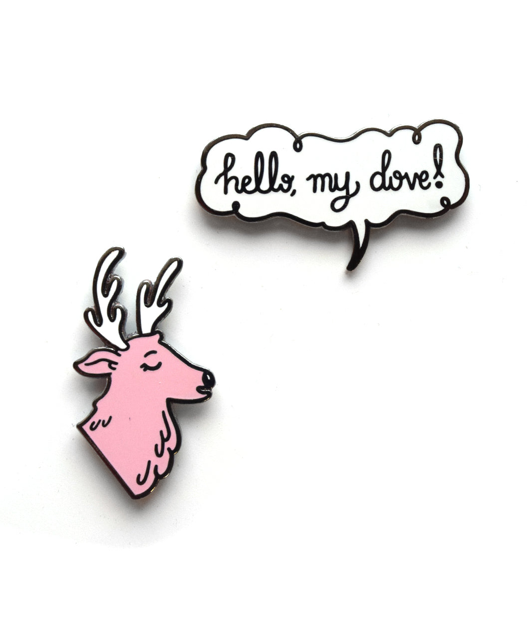 """Hello, My Dove!"" Pin Set"