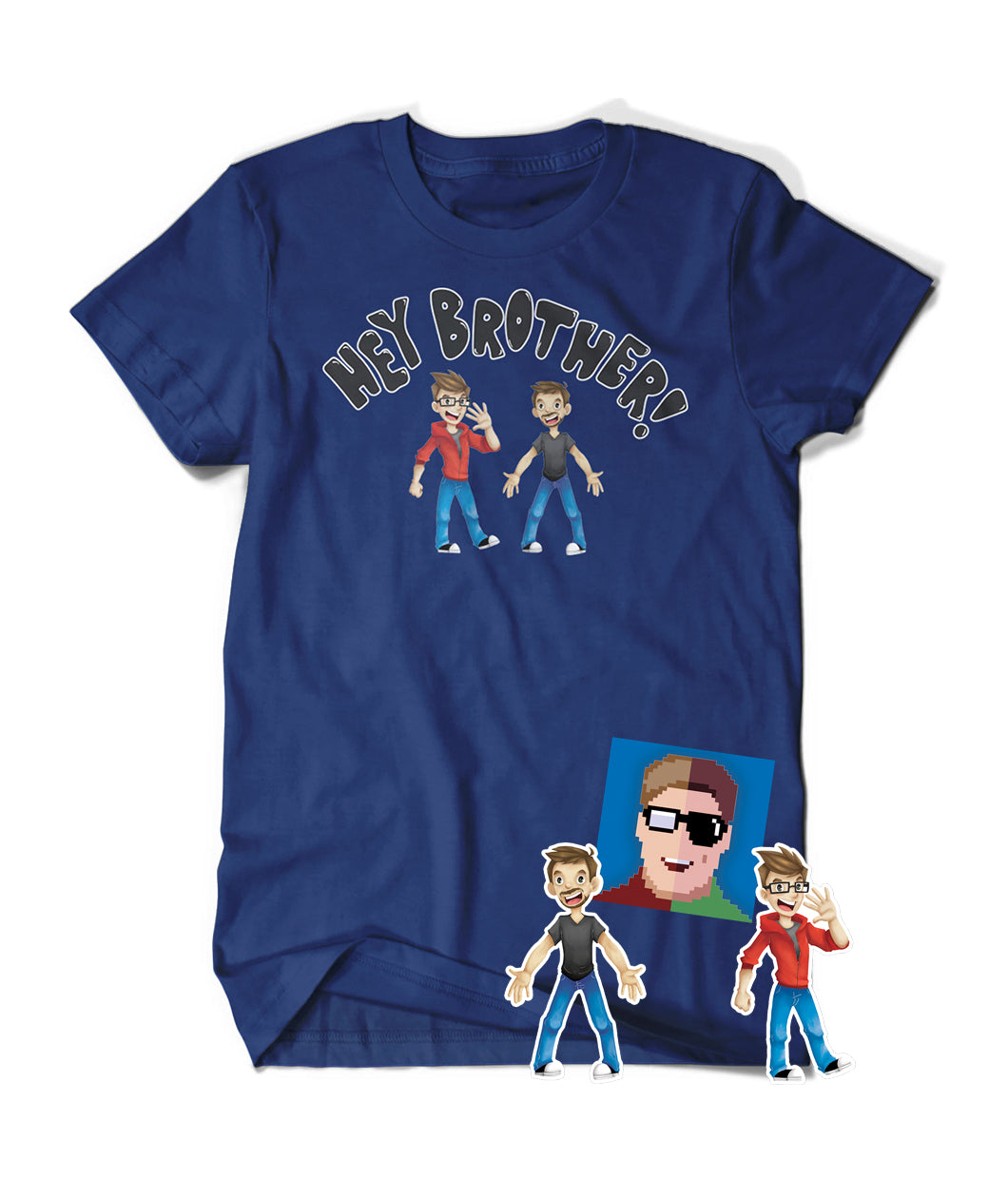 Hey Brother! Shirt and Sticker Bundle