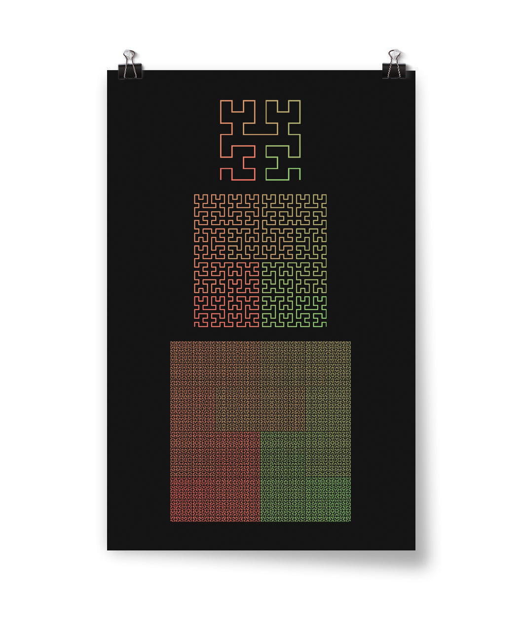 Hilbert Curve Poster