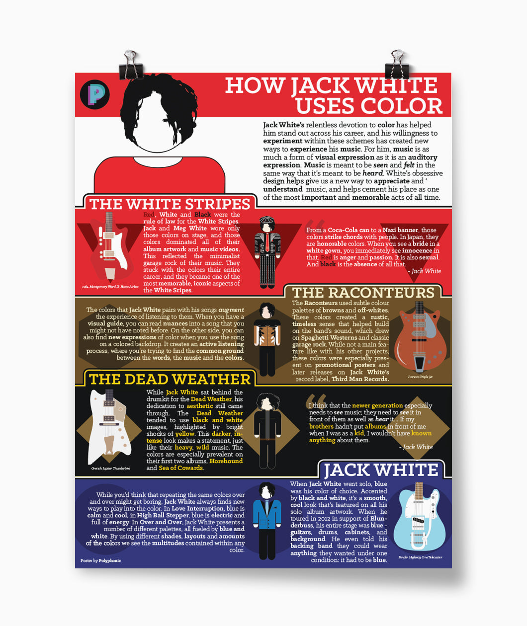 How Jack White Uses Color Poster