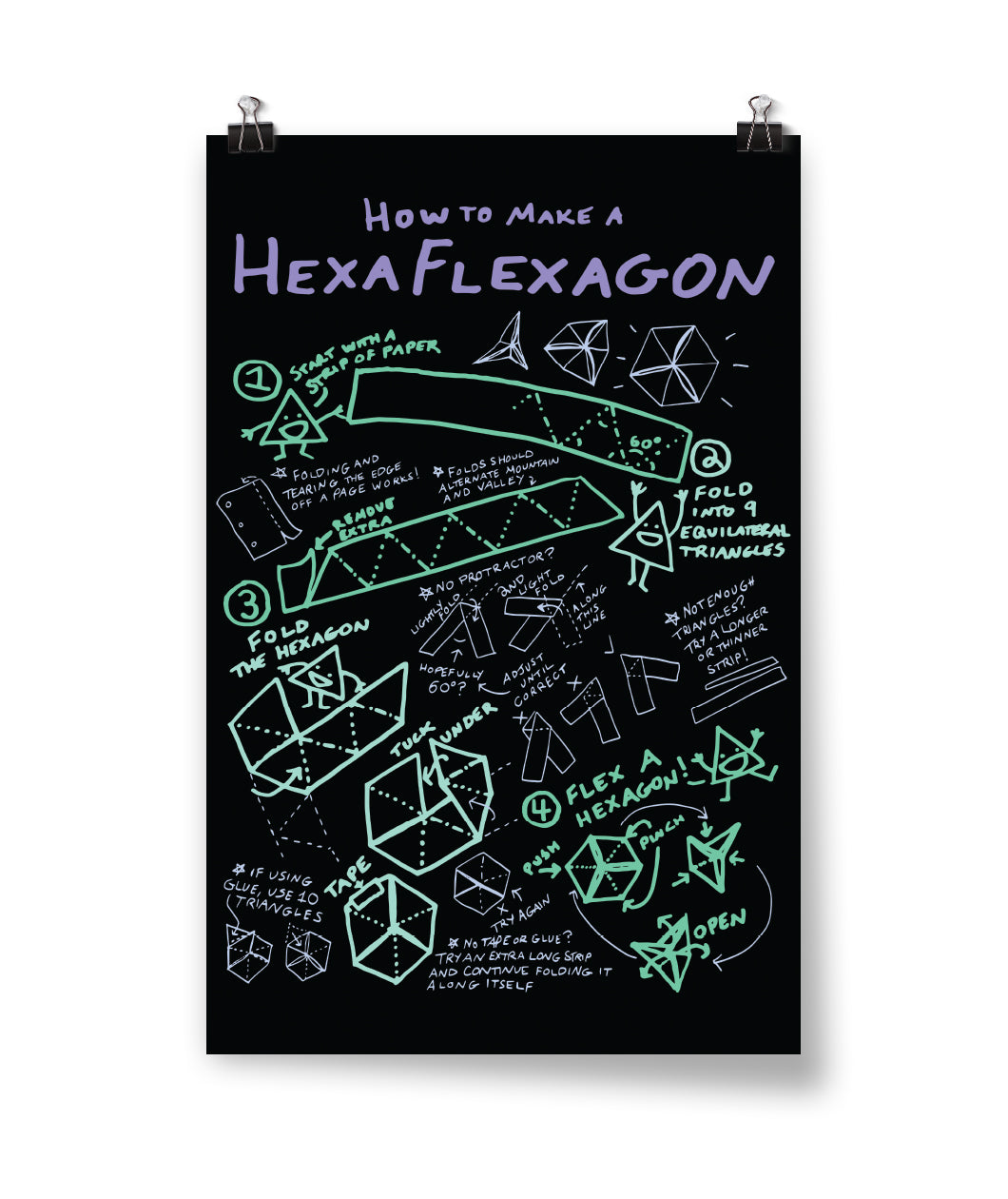 How To Make A Hexaflexagon Poster