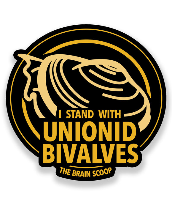 I Stand With Unionid Bivalve Decal