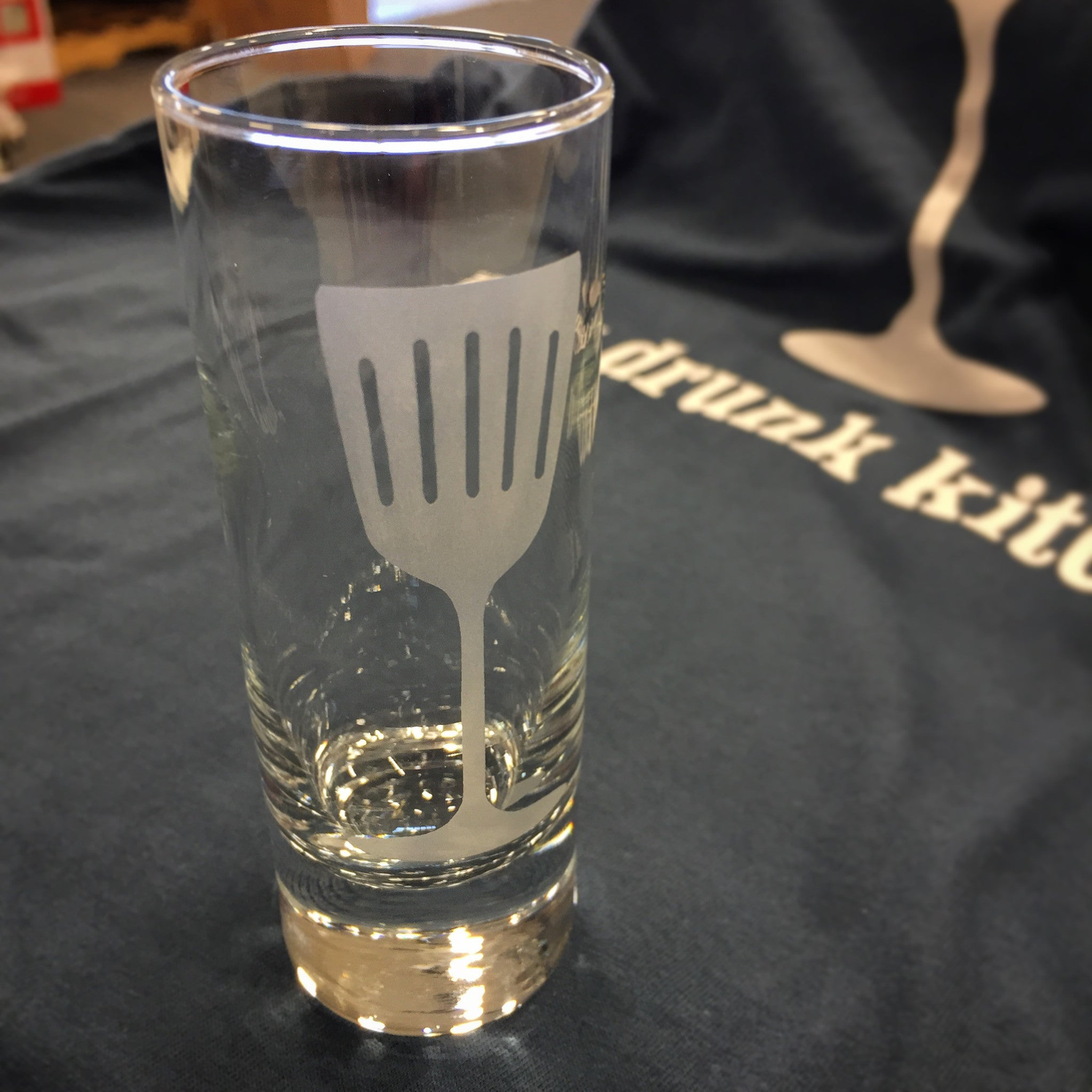 My Drunk Kitchen Logo Tall Shot Glass