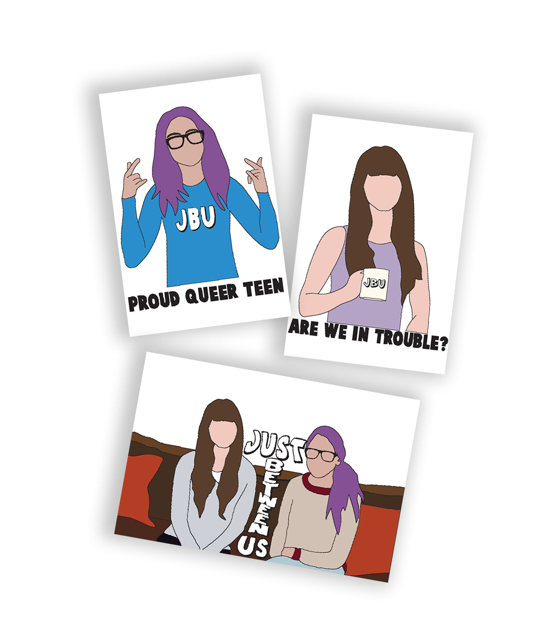Just Between Us Sticker Set
