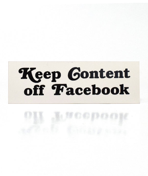 Keep Content Off Facebook Sticker