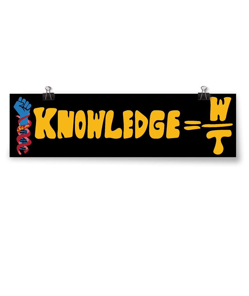 Knowledge = W/t Banner