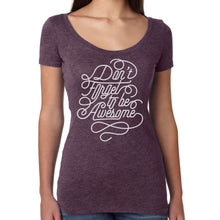 Don't Forget To Be Awesome Ladies Swirl Shirt