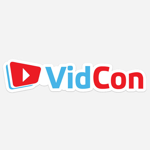 VidCon Vinyl Decal