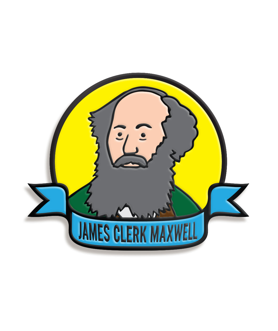 James Clerk Maxwell Enamel Pin