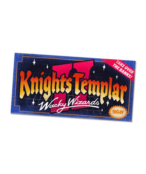 K2: Knights Templar 2 Wacky Wizards Bumper Sticker