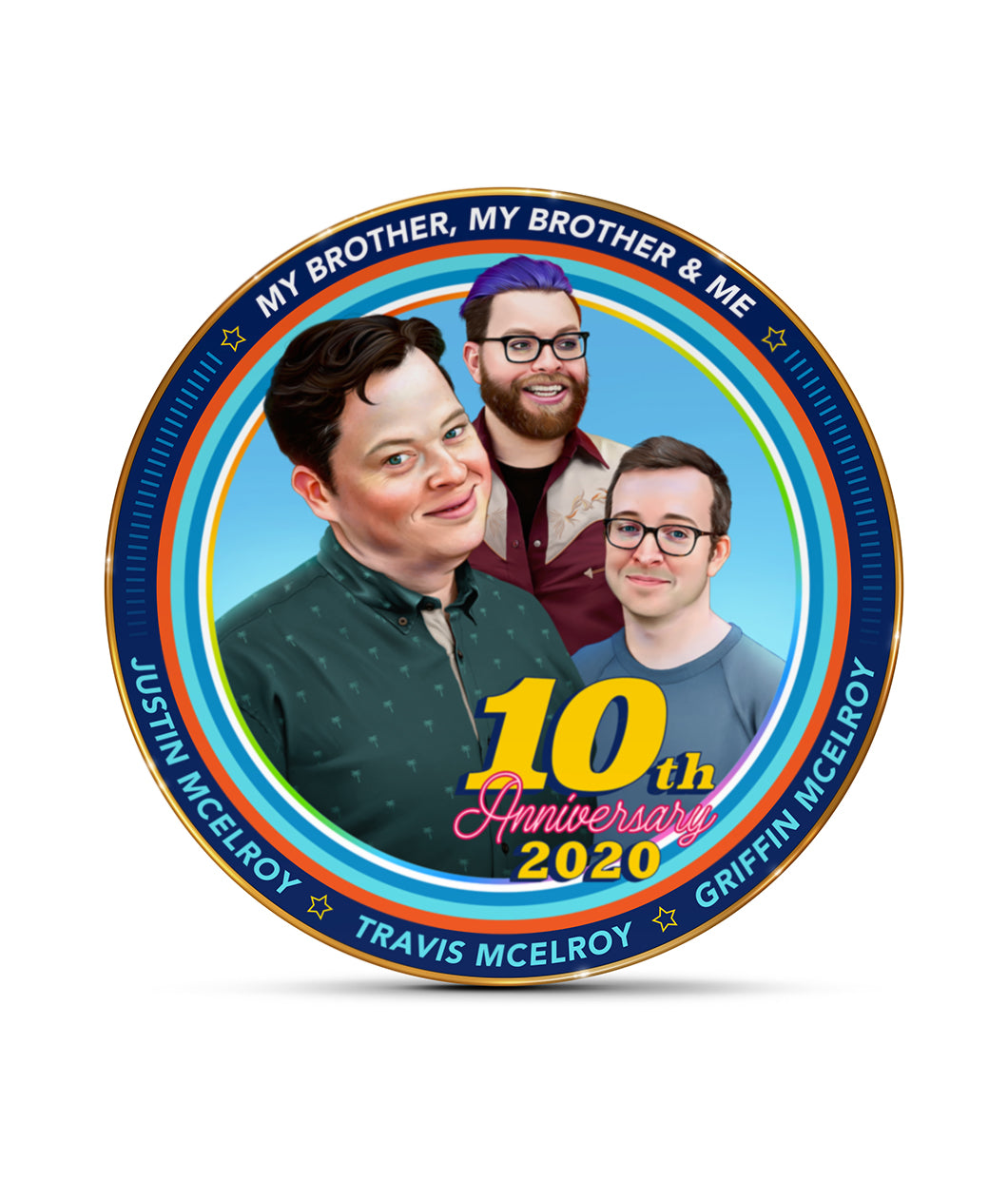 MBMBaM 10th Anniversary Commemorative Plate