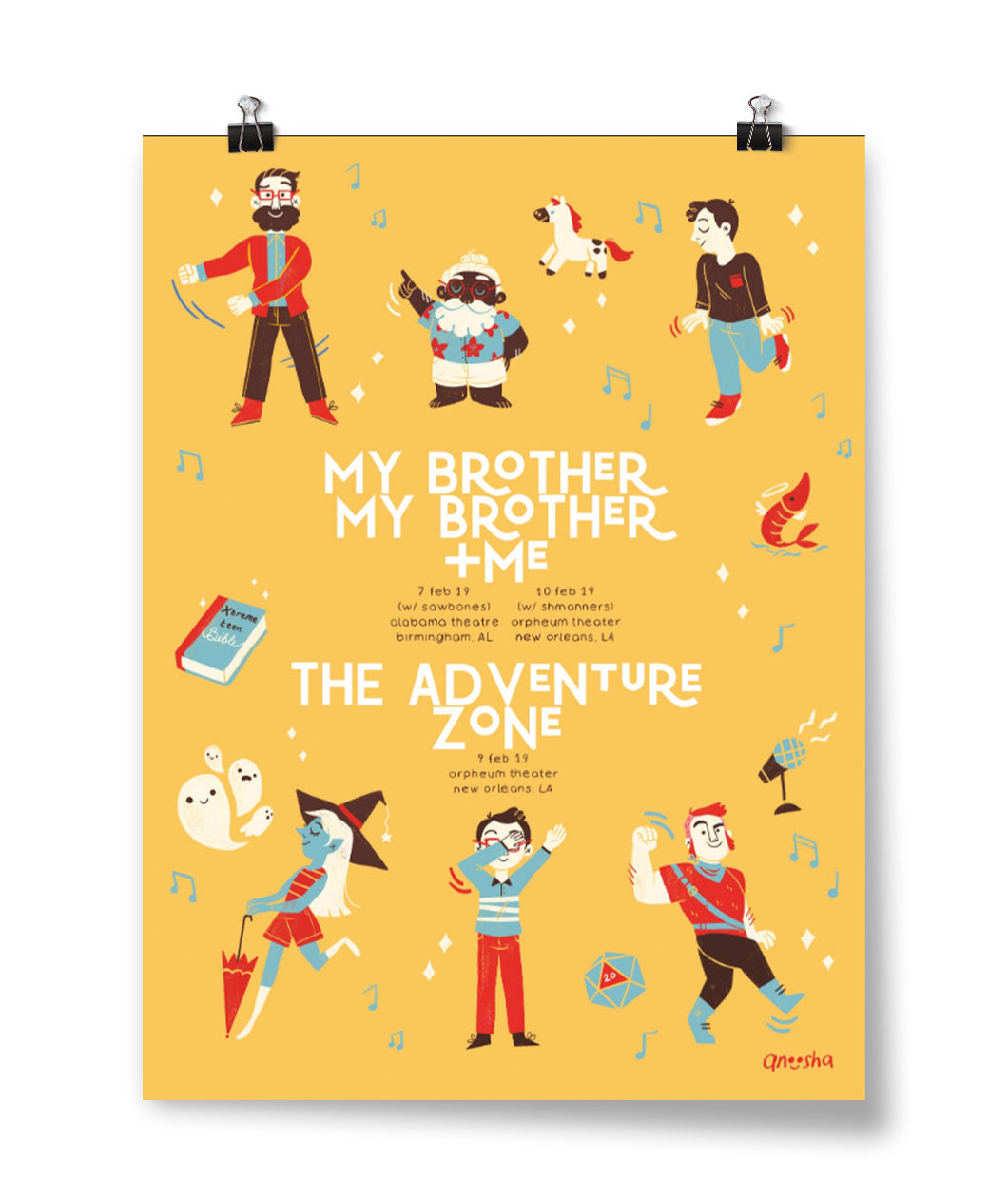 MBMBaM + TAZ Feb 7th & 10th 2019 Tour Poster