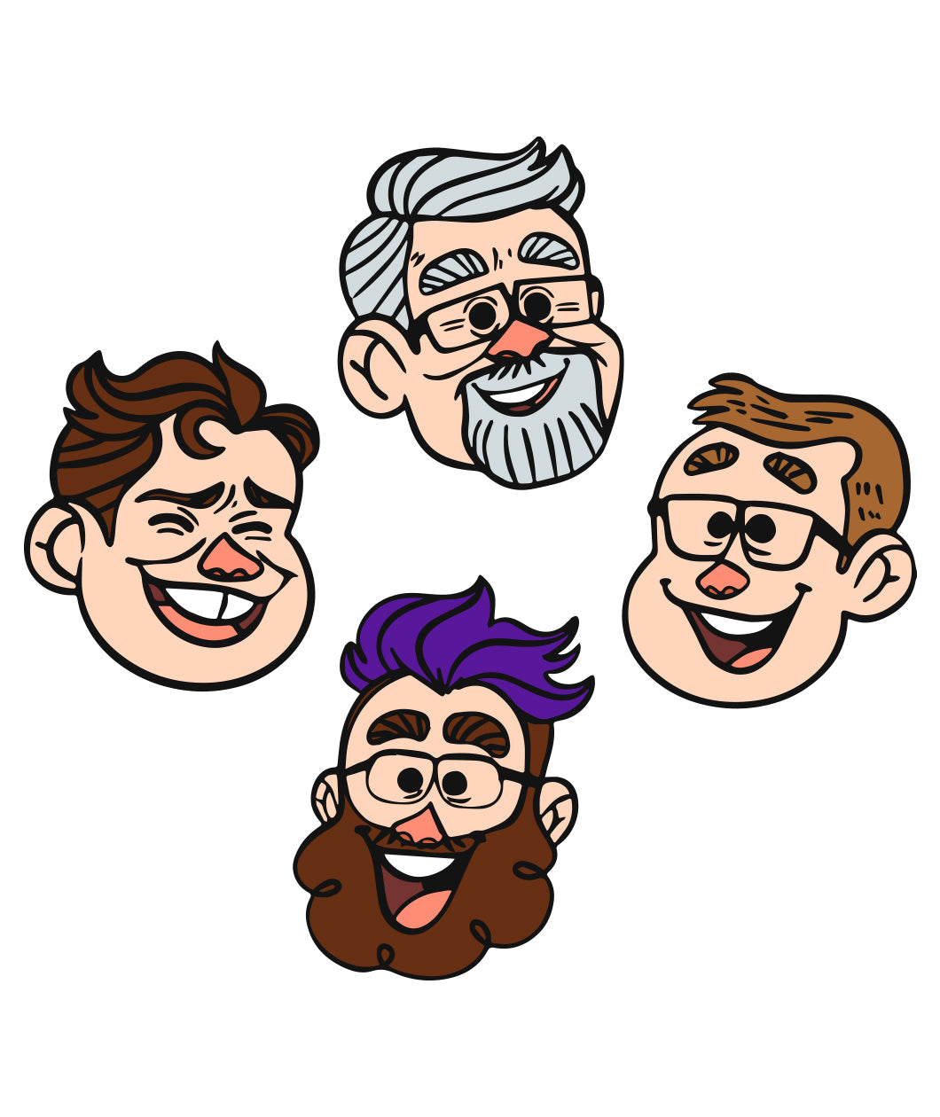 McElroy Heads Sticker Set