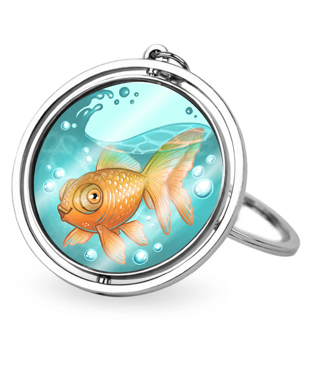 Steven the Goldfish Spinner Keychain