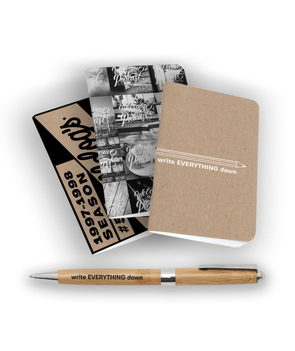 Write Everything Down Notebook Pack