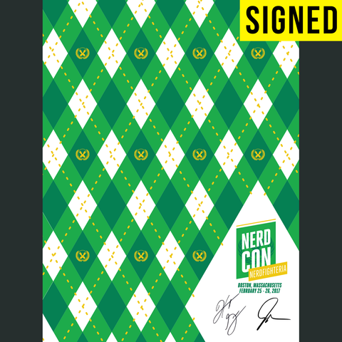 SIGNED NerdCon Nerdfighteria Argyle Poster