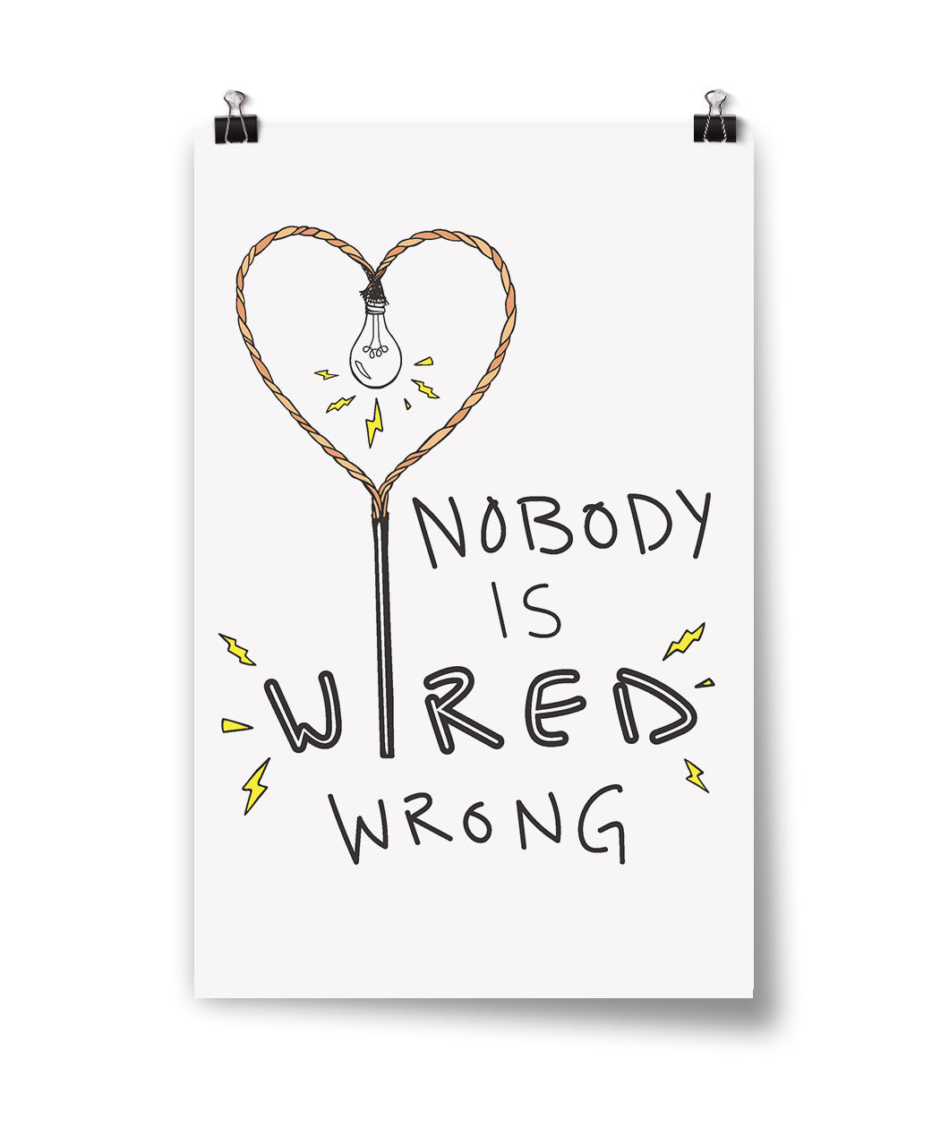Nobody is Wired Wrong Poster