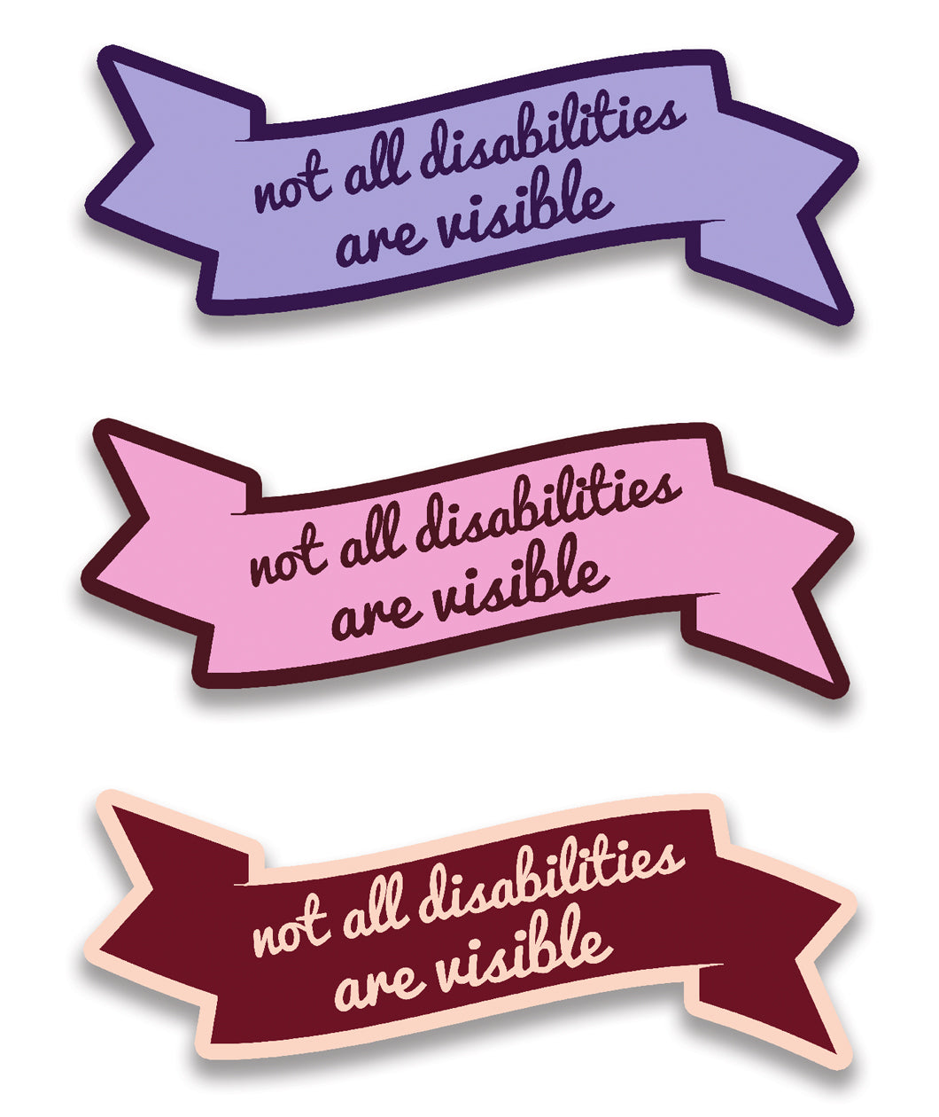 Not All Disabilities Are Visible Sticker Set