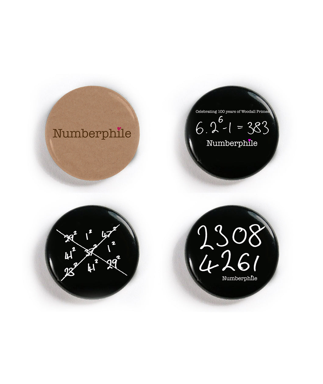 Numberphile Button Pack