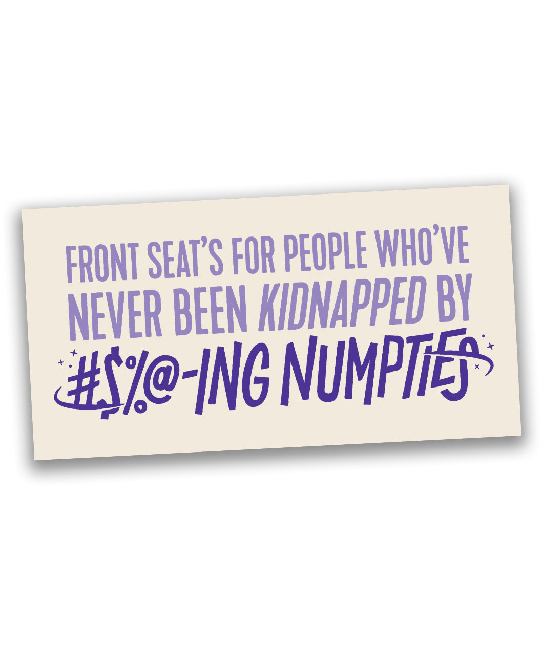 Numpties Bumper Sticker