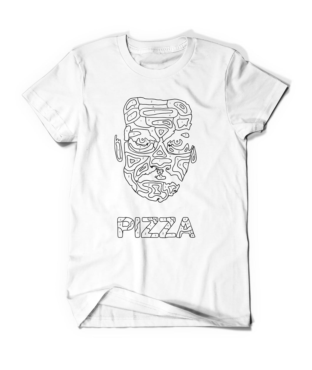 Paint By Numbers Pizza John Shirt