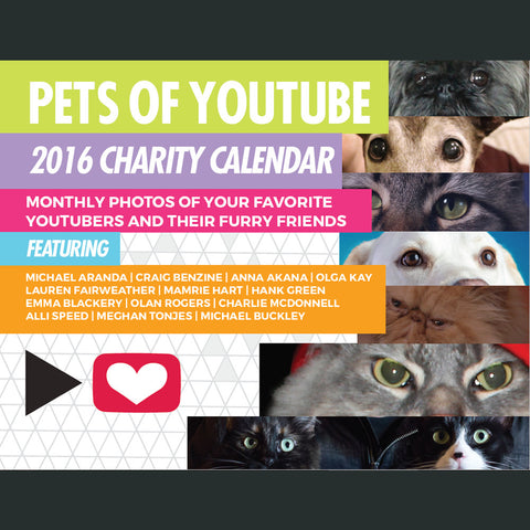 2016 Pets of YouTube Calendar