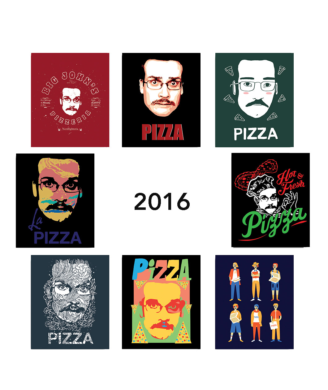 Pizza John Sticker Packs