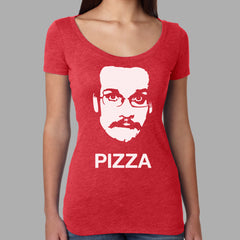 Pizza John Shirt- Ladies Cut