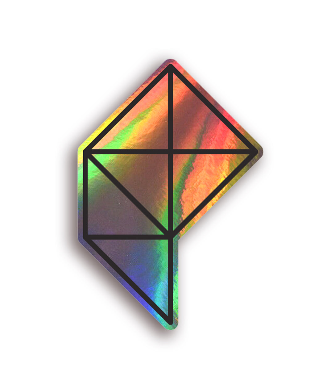 Polygon Logo Holographic Decal