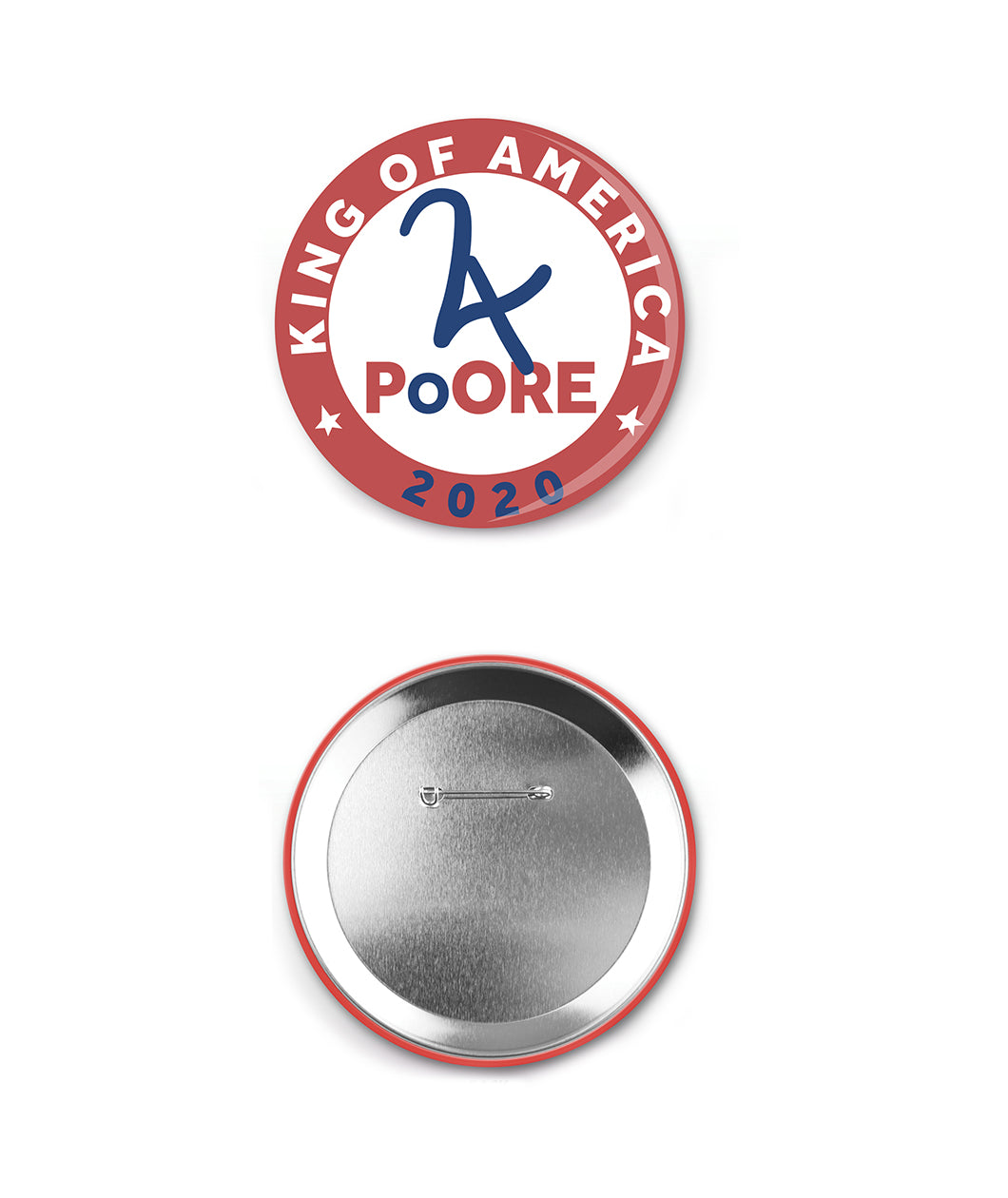 Poore for King Of America Button