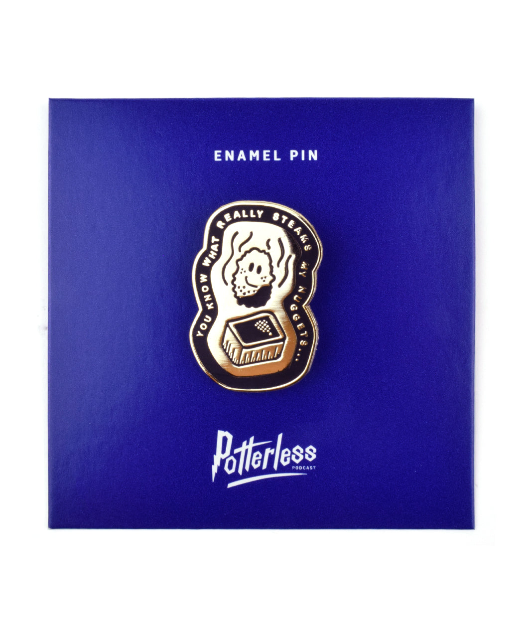 Steamed Nuggets Enamel Pin