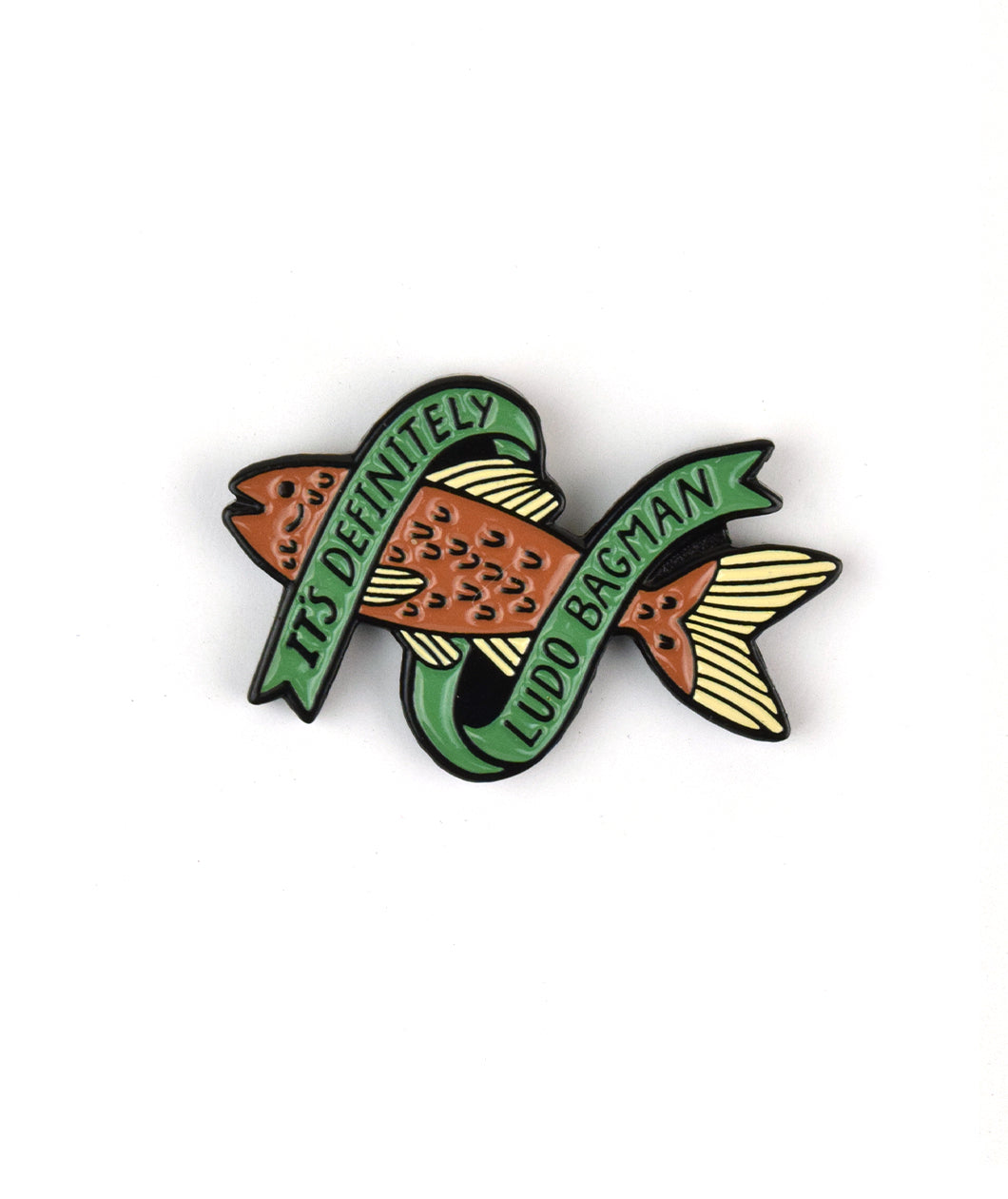 Potterless Red Herring Enamel Pin