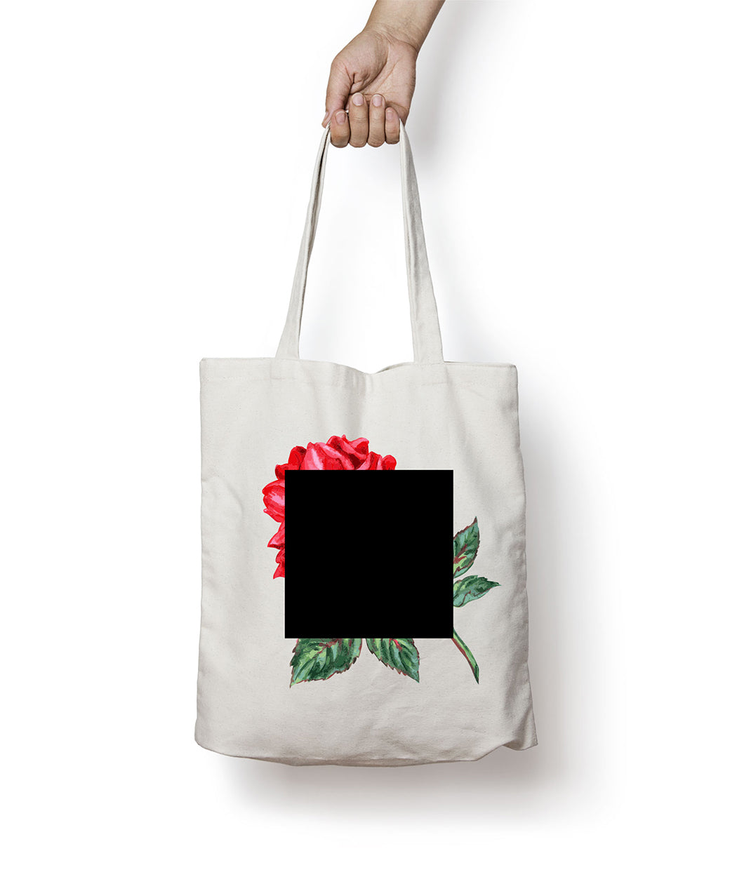 Agnes Martin Inspired Rose Art Tote Bag