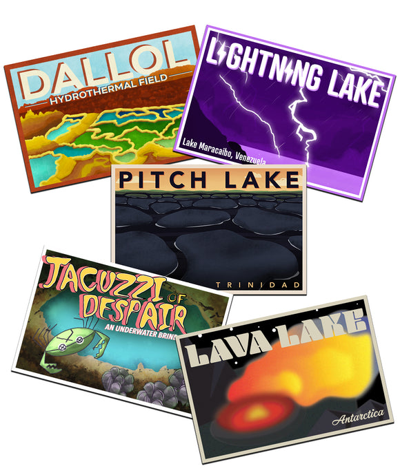 Weird Lakes Postcard Set