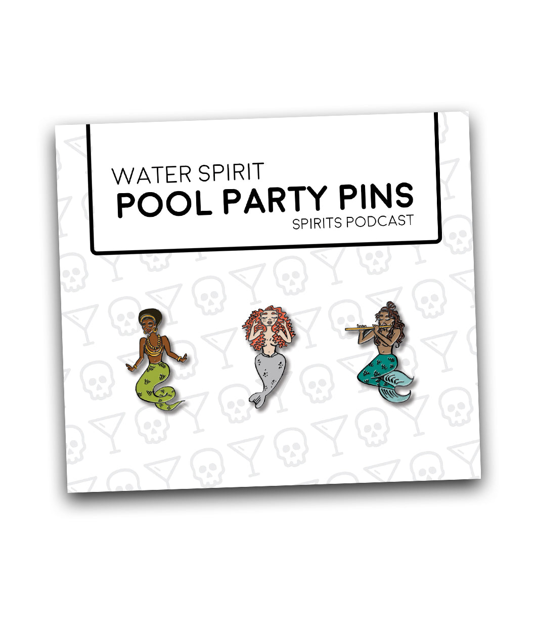 Spirits Water Spirit Pool Party Pin Set