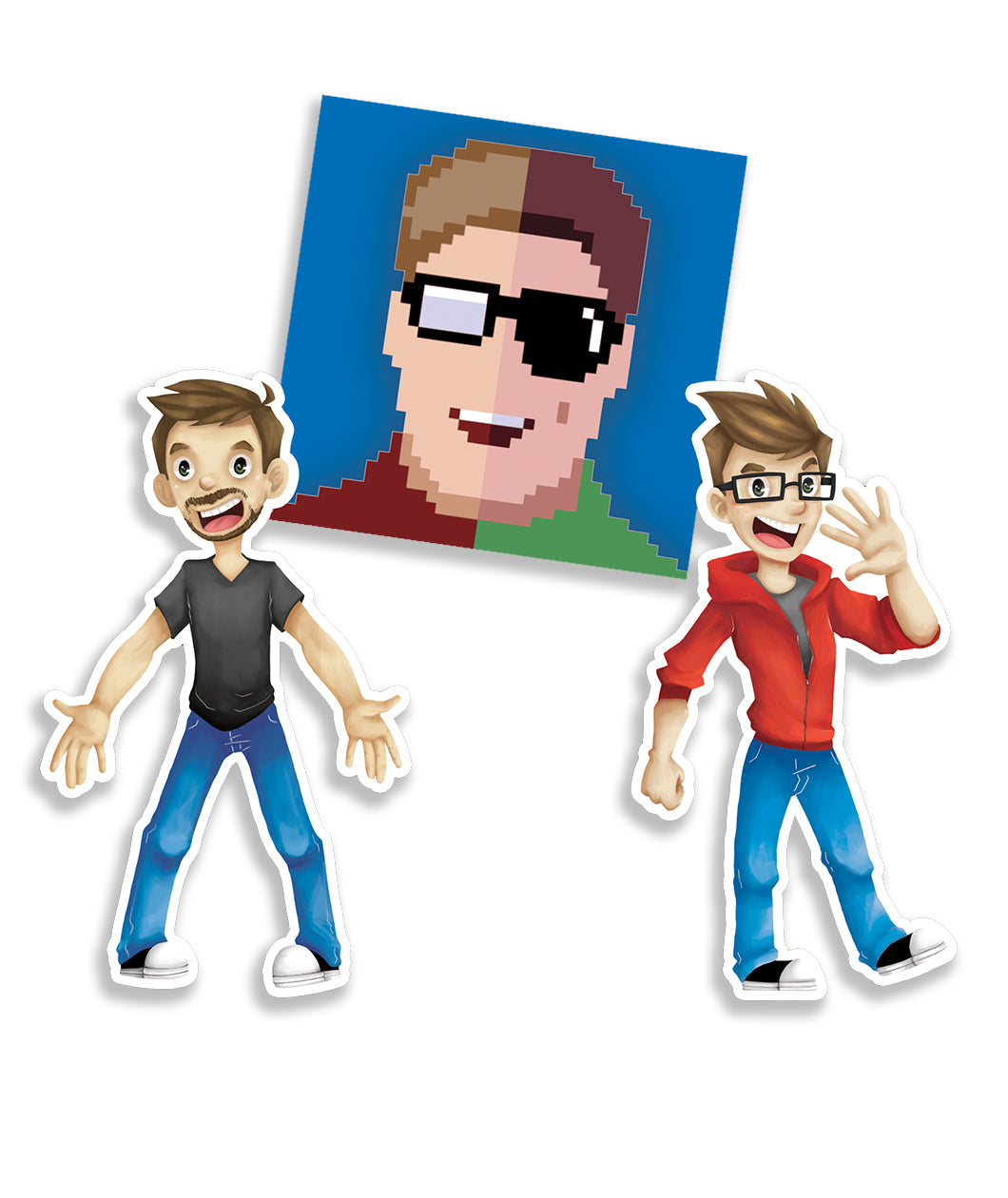 Super Carlin Brothers Sticker Set