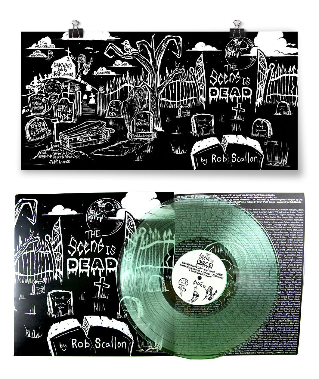 The Scene Is Dead Poster + Vinyl Bundle
