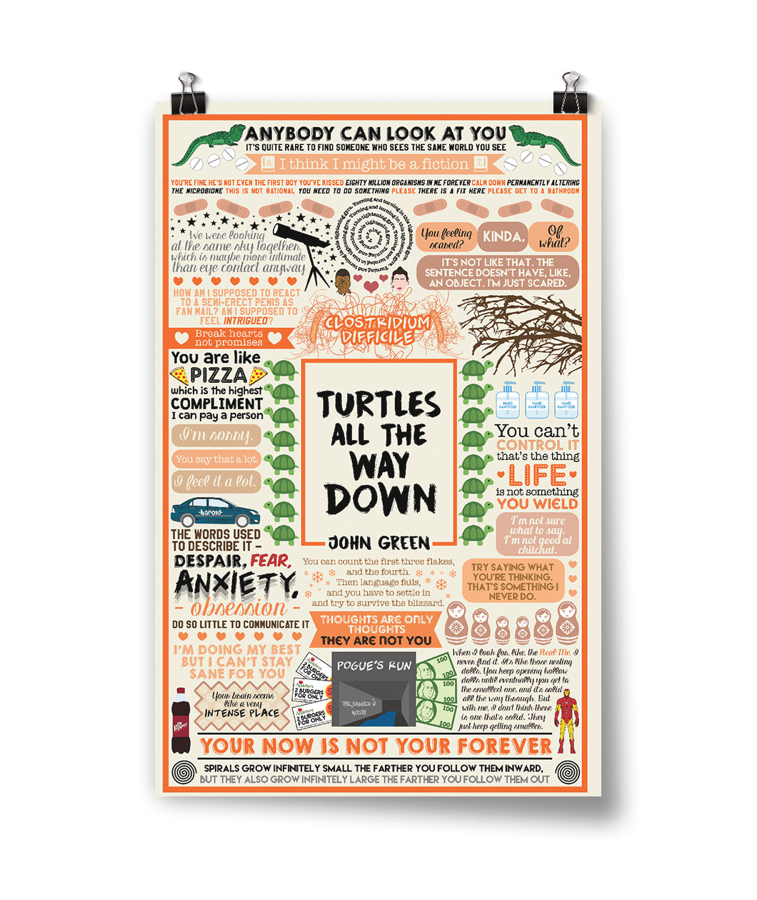 Turtles All The Way Down Collage Poster
