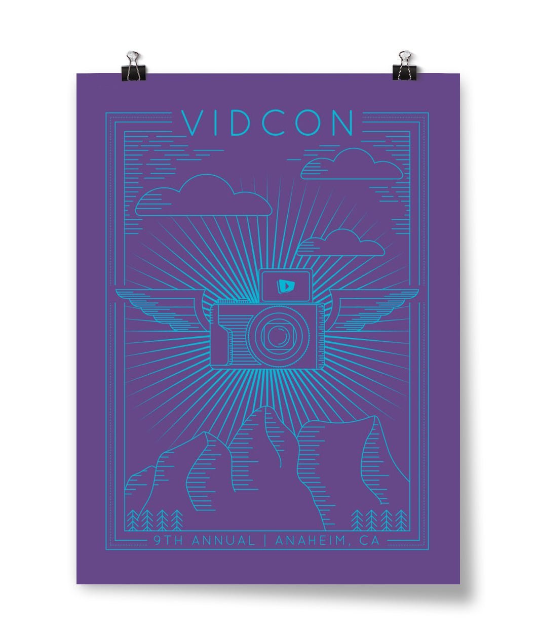 9th Annual Screen printed VidCon Poster