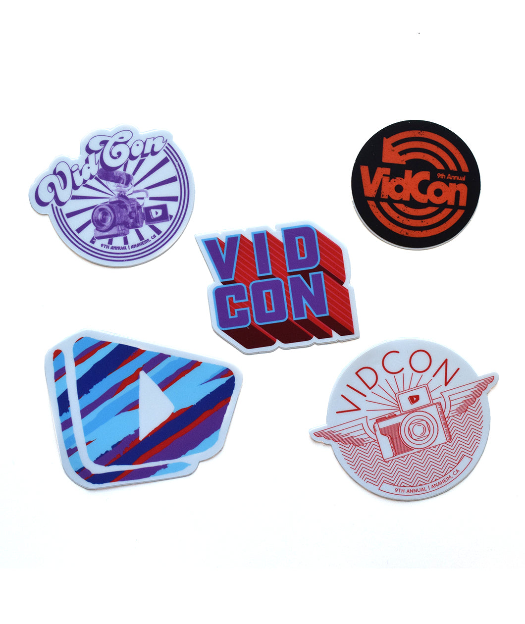 9th Annual VidCon Sticker Pack