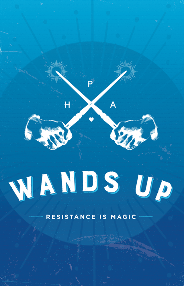 Wands Up Poster