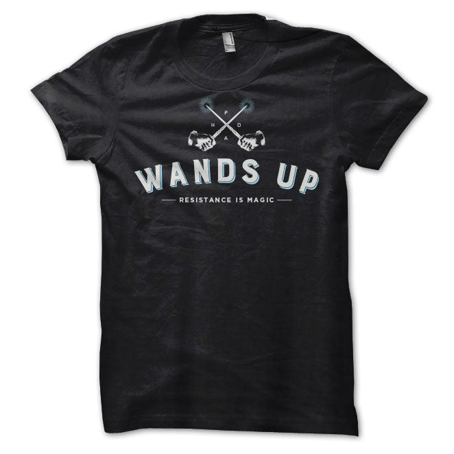 Wands Up Shirt in Black
